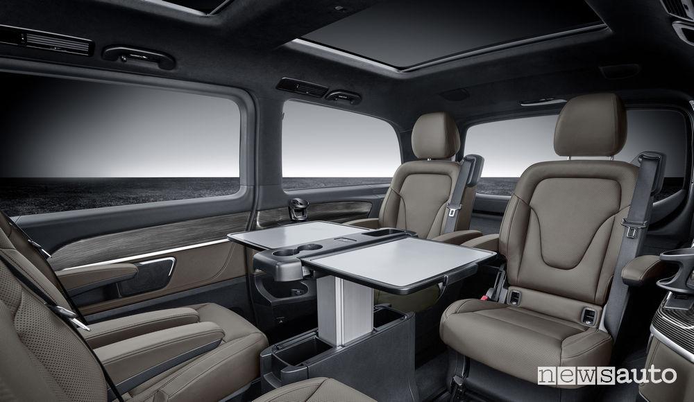 Mercedes-Benz Classe V 2019, sedili posteriori