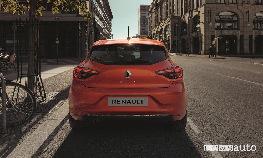 Portellone e nuovi fari posteriori Renault Clio 2020