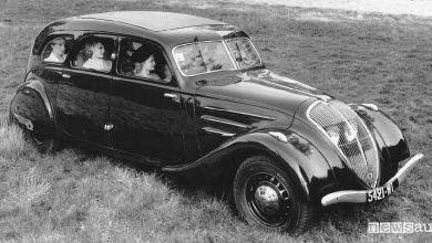 Aerodinamica auto Peugeot 402 Limousine