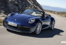 Porsche 911 Cabriolet 2019, auto sportiva aperta