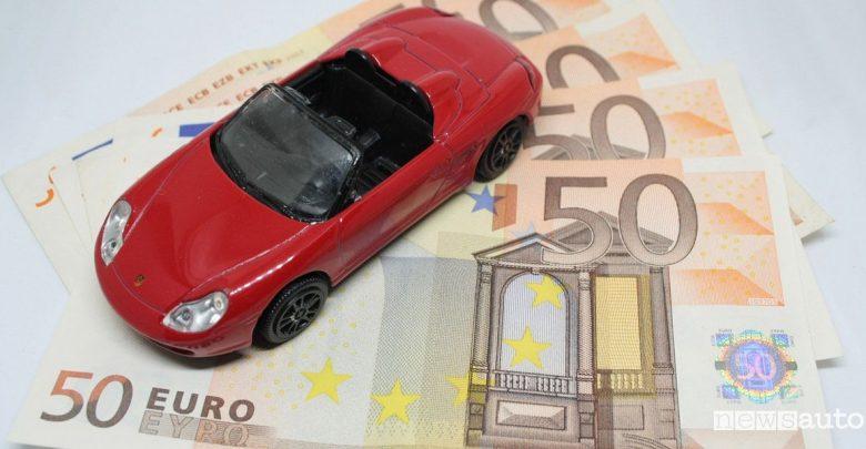 Detrazione auto soldi