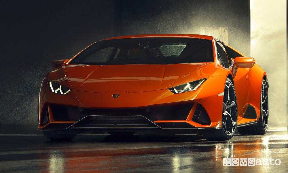 Lamborghini Huracán EVO, vista frontale