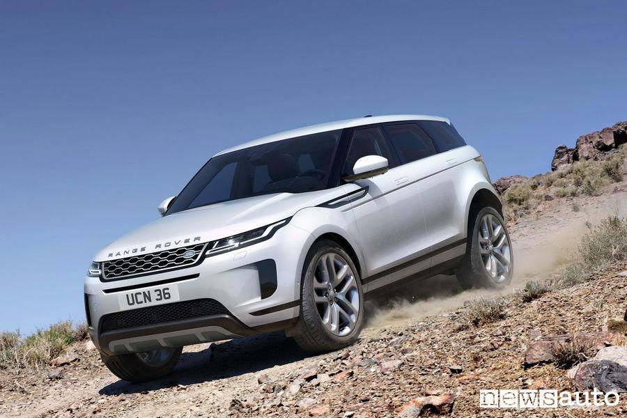 10 SUV più venduti in Italia nel 2018 Land Rover Range Rover Evoque