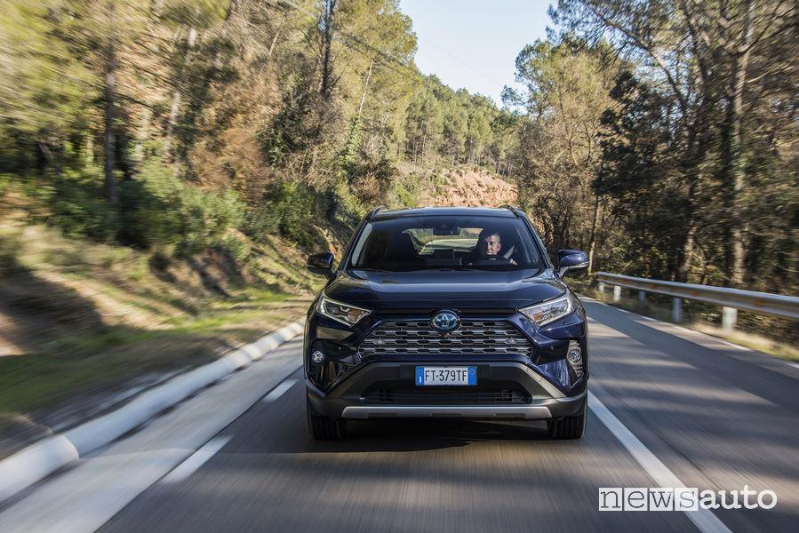 Nuova Toyota Rav4 2019 blue, vista frontale