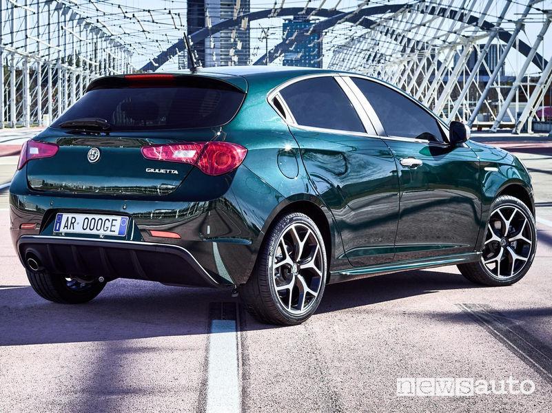 Alfa Romeo Giulietta Super, vista posteriore