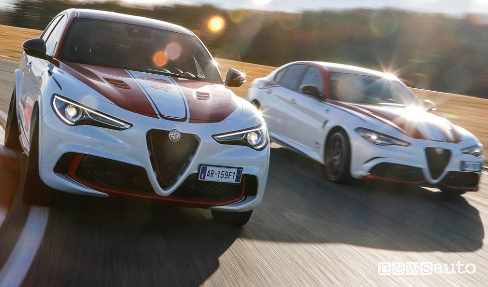 Alfa Romeo Stelvio e Giulia Quadrifoglio livrea F1