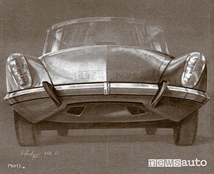 Disegno di Michel Harmand del 1964 (seconda versione)