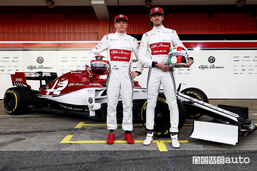 F1 2019 Alfa Romeo Racing, Raikkonen e Giovinazzi