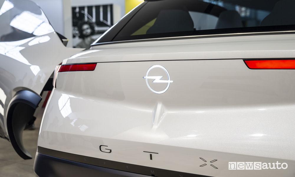 Opel concept GT X Experimental 2019, vista posteriore