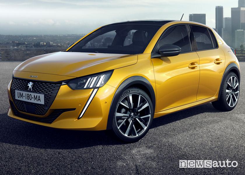 """Nuova Peugeot 208 in allestimento GT Line con fari full led e cechi da 17"""""""