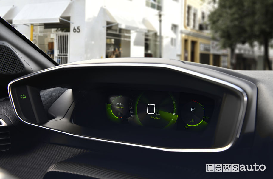 i-Cockpit quadro strumenti 3D di nuova Peugeot 208