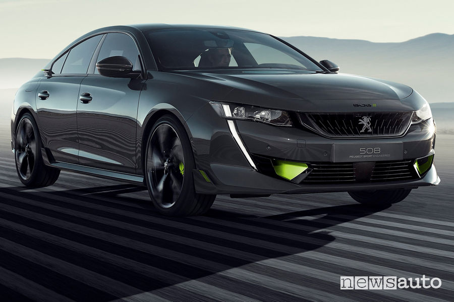 Peugeot 508 Sport Engineered concept, vista di profilo