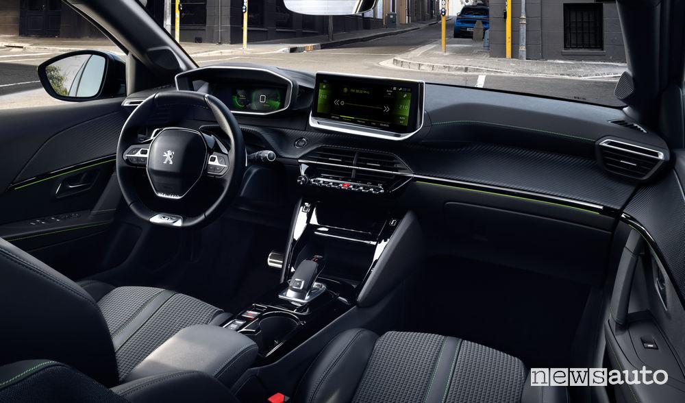 Interni nuova Peugeot 208 in allestimento GT Line