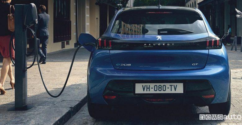 Auto elettriche 2019 Peugeot 208 elettrica