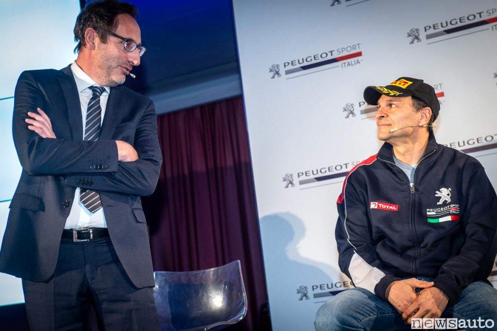 Carlo Leoni PSA GROUP con Paolo Andreucci ambassador Peugeot 2019