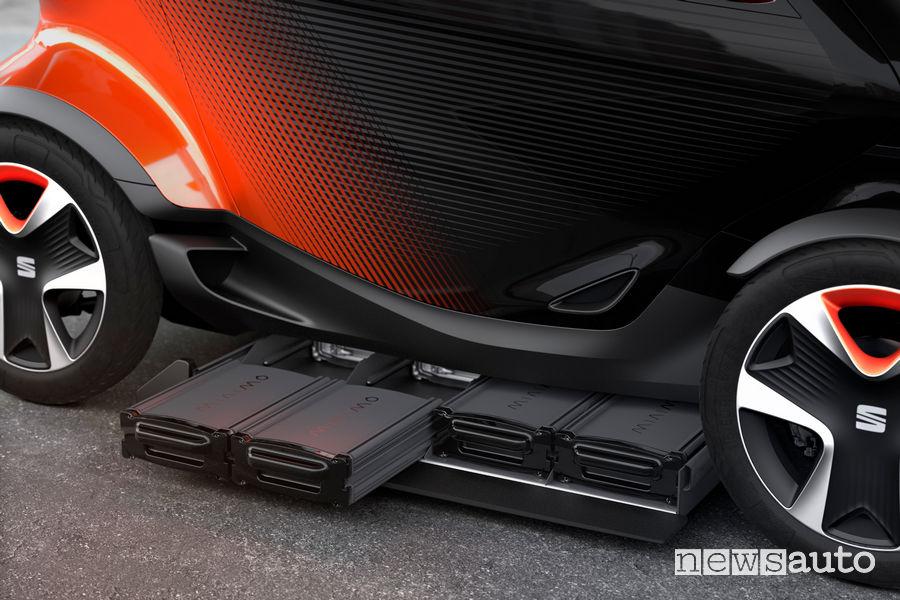 Seat Minimo concept car, sostituzione batterie