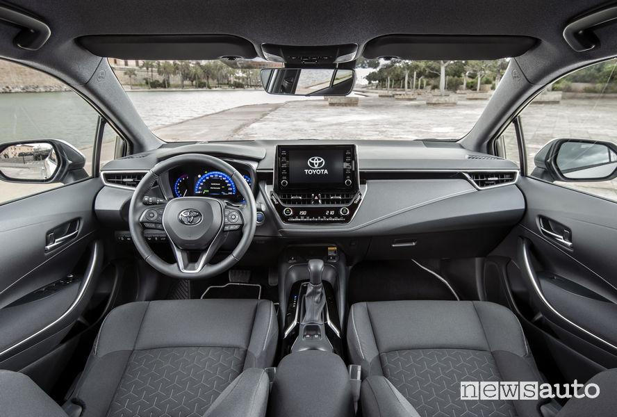 Toyota Corolla Touring Sport 2019, plancia strumenti