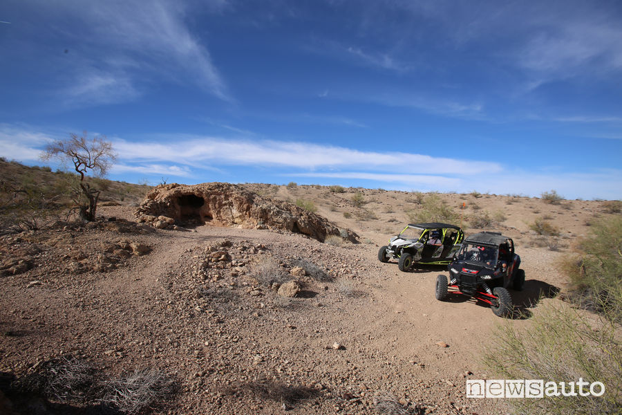 Polaris Razor e Can Am Maverik nell'Electrical North Trail