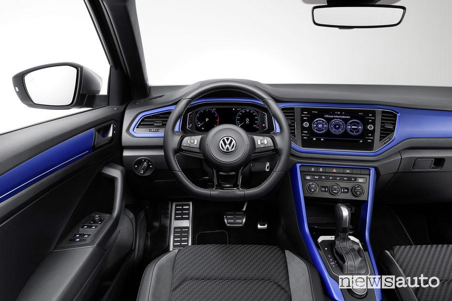 Volkswagen T-Roc R, plancia strumenti