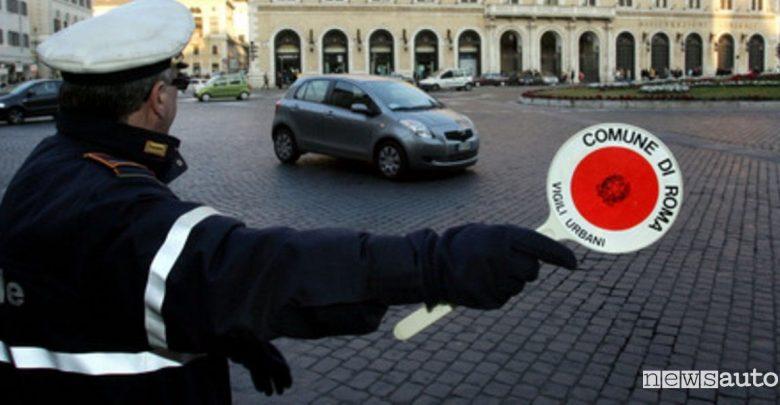 Blocco traffico Roma 10 febbraio