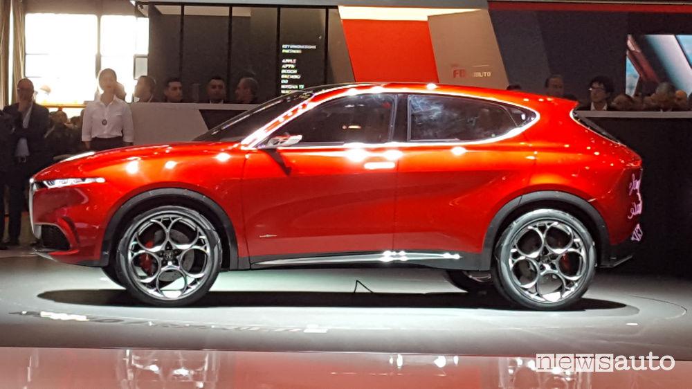 Alfa Romeo Tonale Ginevra 2019, vista laterale