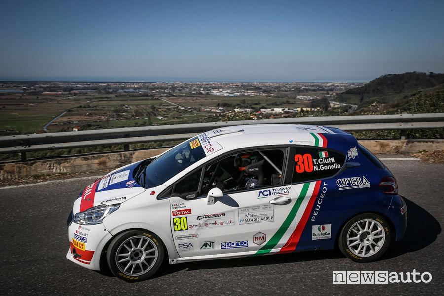 CIR 2019 Rally Ciocco, Peugeot 208 R2 Ciuffi/Gonella