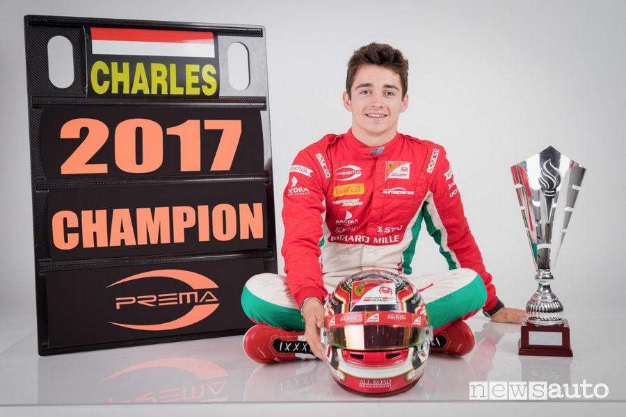 Charles Leclerc campione Formula 2 2017