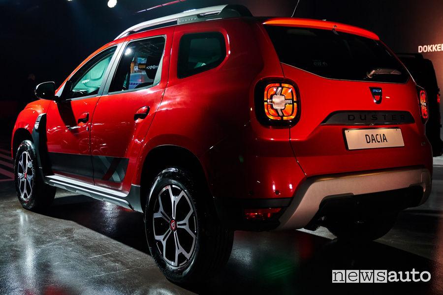 Dacia Duster Techroad, vista posteriore