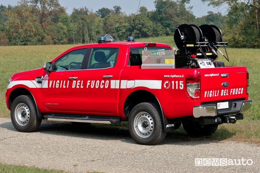 Ford Ranger ai Vigili del Fuoco, vista posteriore