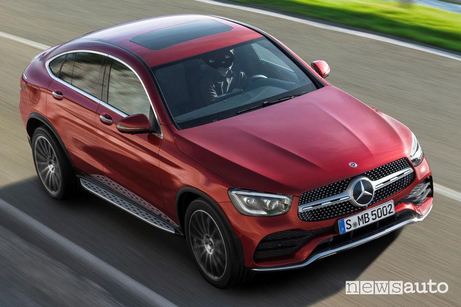 Mercedes-Benz GLC Coupé AMG Line 2019, vista dall'alto