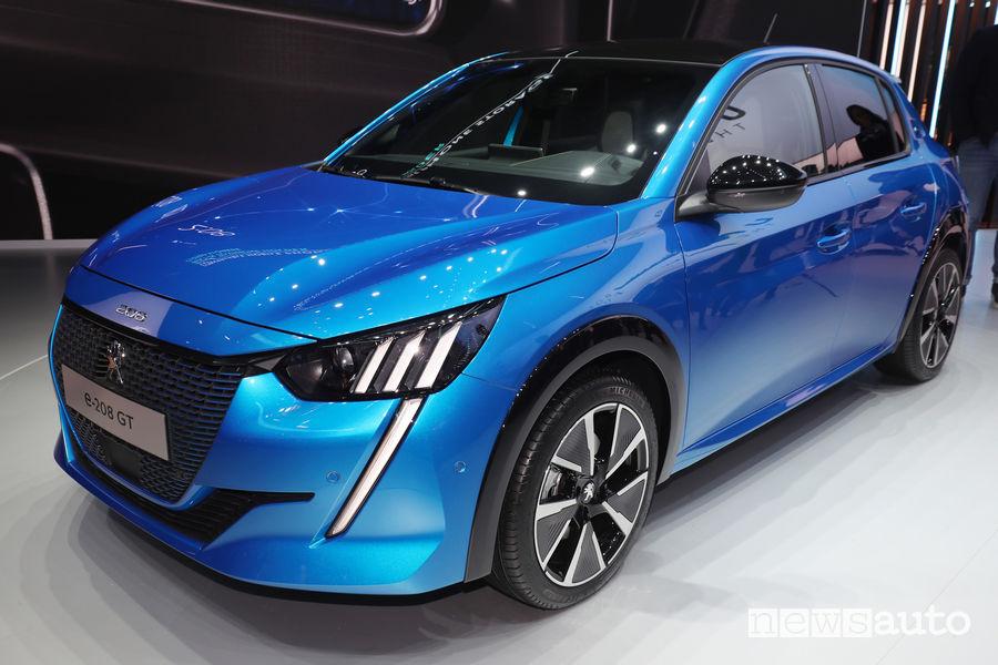 Peugeot e-208 elettrica Ginevra-2019