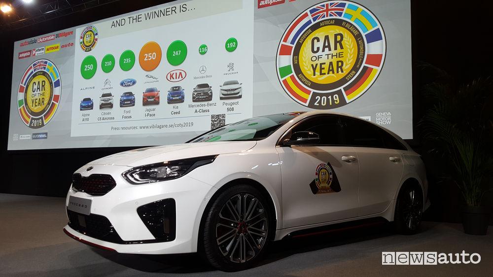 Auto dell'Anno 2019, 3° posto Kia Proceed