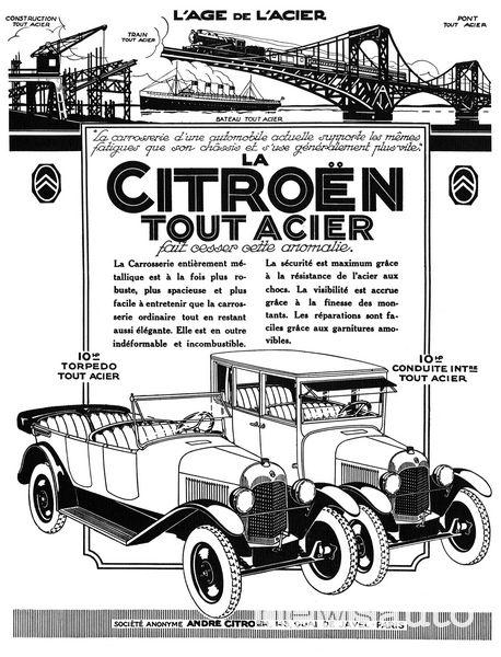 Manifesto Citroën 1923