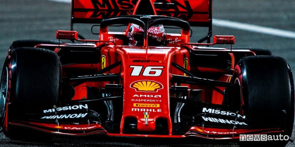 Charles Leclerc qualifiche F1 Gp Bahrain 2019