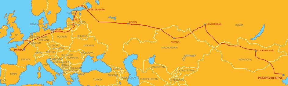 mappa Pechino-Parigi 2019