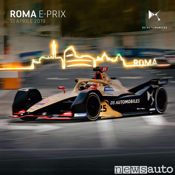 Roma E-Prix 2019 DS Automobiles