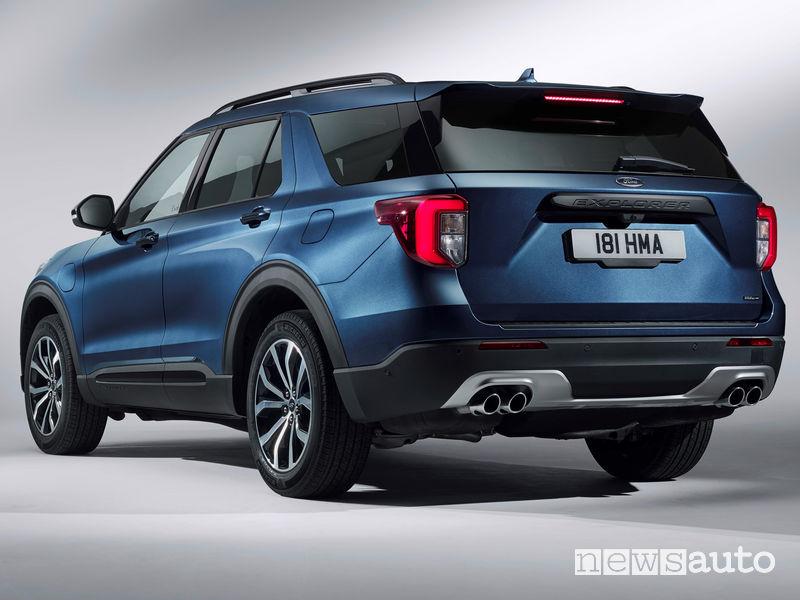 Ford Explorer Plug-In Hybrid vista posteriore