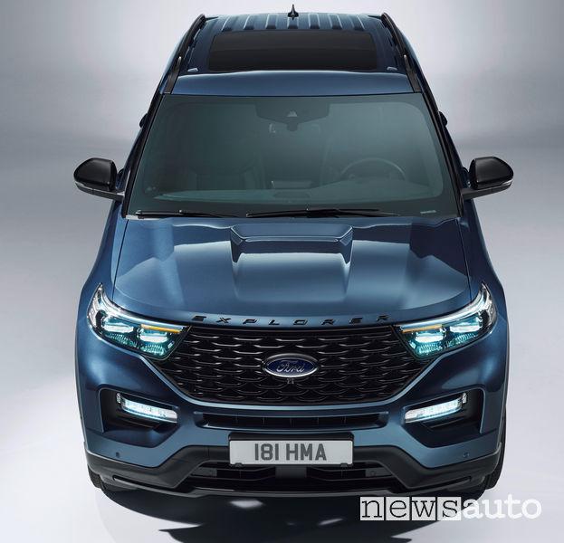 Ford Explorer Plug-In Hybrid vista dall'alto