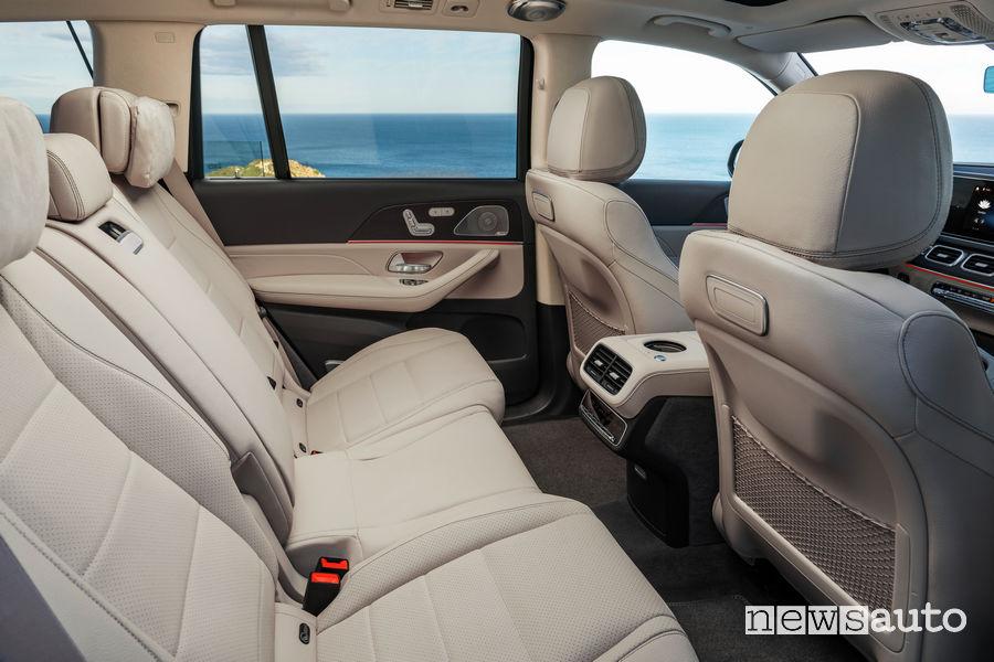 Mercedes-Benz GLS 2019 sedili posteriori