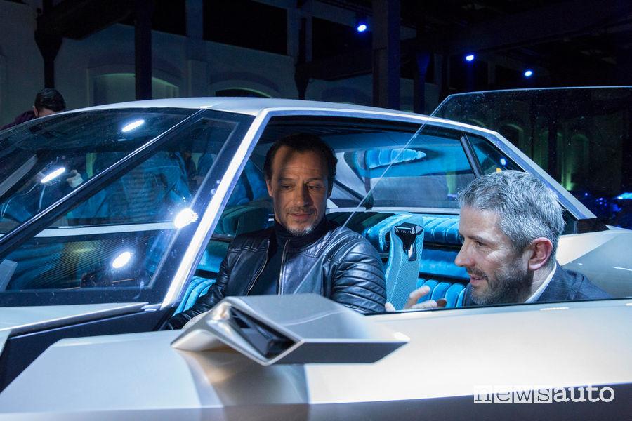 Peugeot alla Milano Design Week 2019, Accorsi e Gilles Vidal (Direttore design Peugeot)