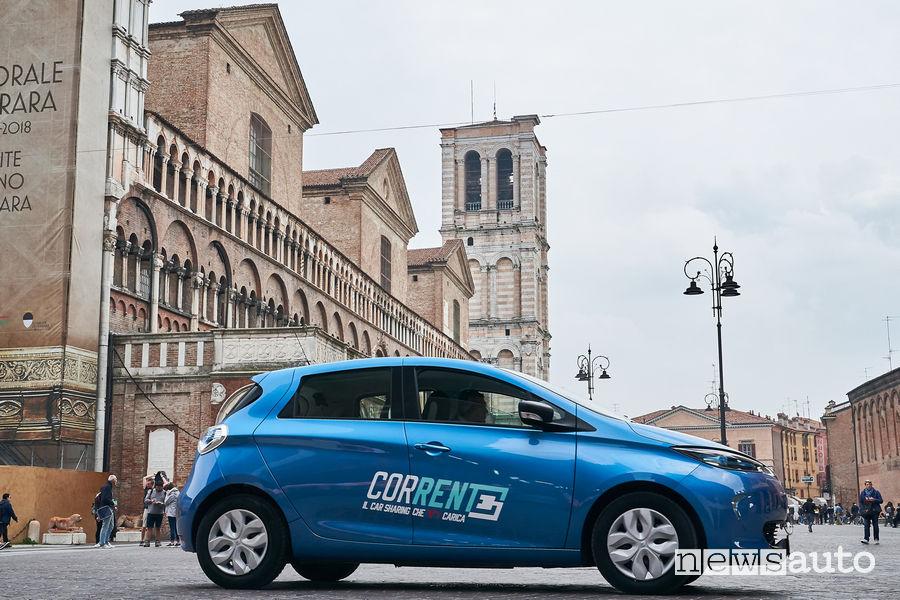 "Renault Zoe car sharing ""Corrente"" Ferrara Emilia Romagna"