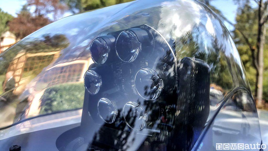 Faro profondità a Led Carabinieri auto ibrida Toyota yaris