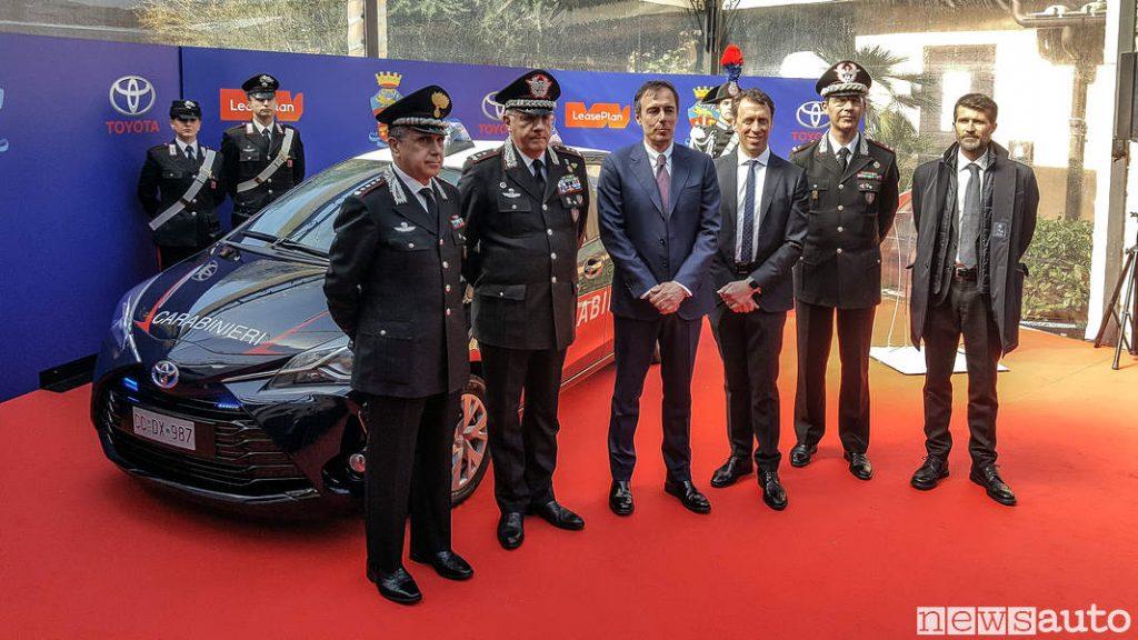 Toyota_Yaris Hybrid Carabinieri presentazione ufficiale