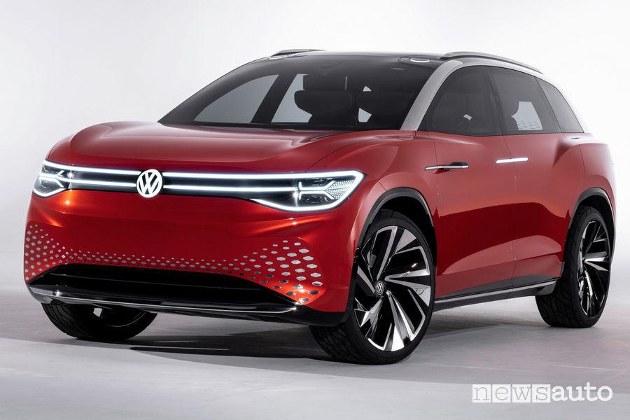 Volkswagen ID. Roomzz vista di profilo