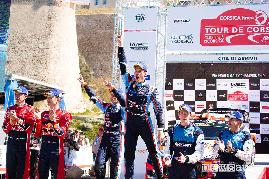 WRC podio Rally di Francia 2019