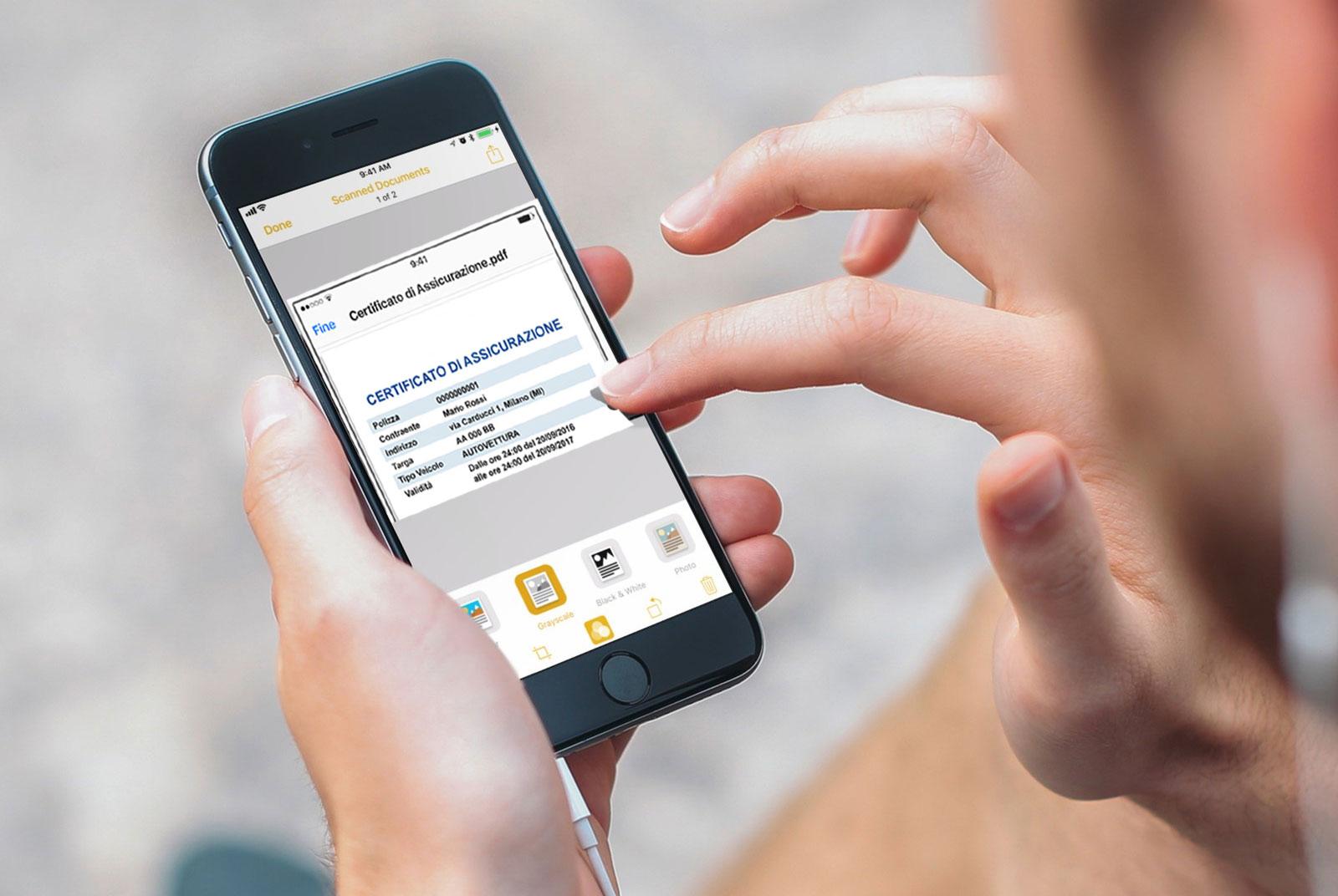 Assicurazione auto neopatentati contratto assicurazione digitale smartphone