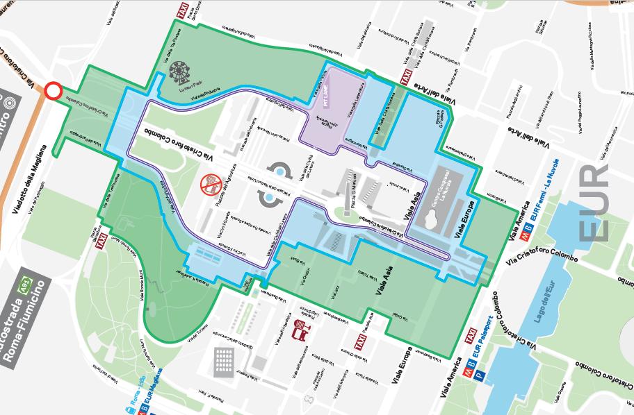 Mappa circuito ePrix Roma Formula-E eur