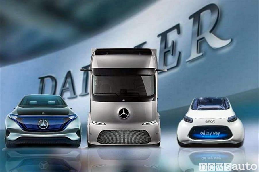 Le auto ed i camion del futuro nella visione di Mercedes-Benz