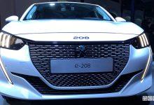 Nuova Peugeot e-208 elettrica