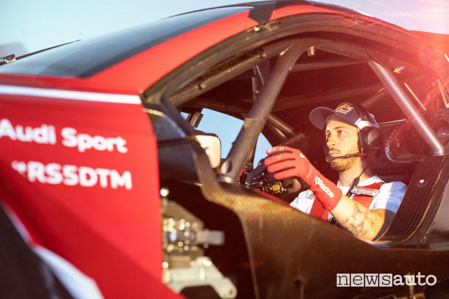 Andrea Dovizioso al volante dell'Audi RS 5 DTM